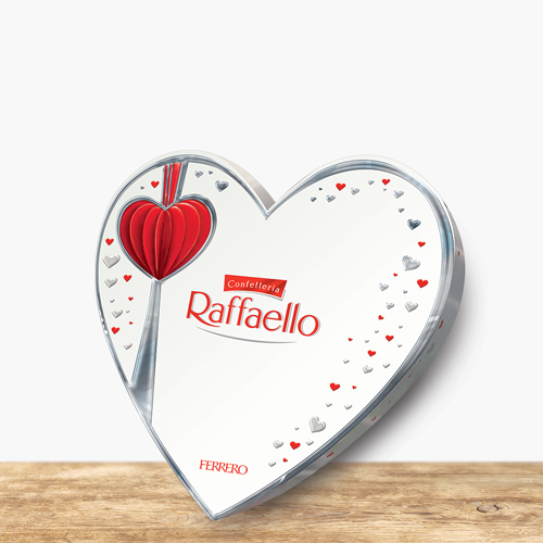 Chocolate Heart Box by Raffaello